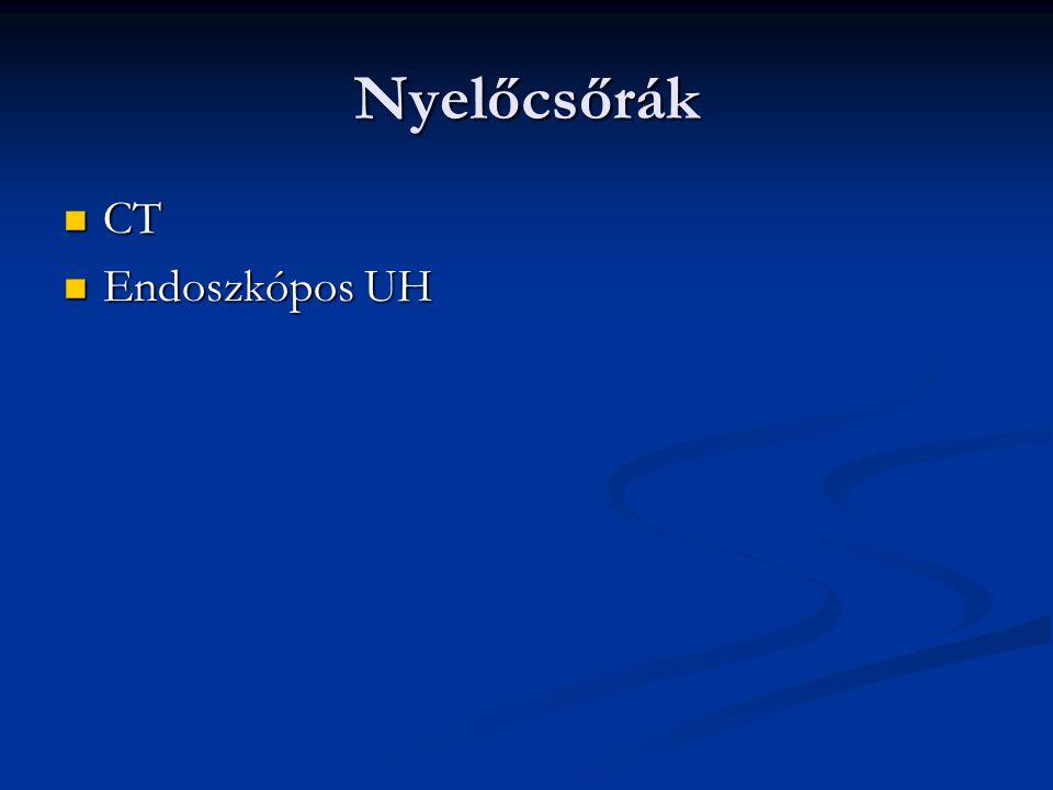 Gyomorrák Kontrasztanyagos gyomorvizsgálat: linitis plastica Kontrasztanyagos gyomorvizsgálat: linitis plastica CT,UH CT,UH