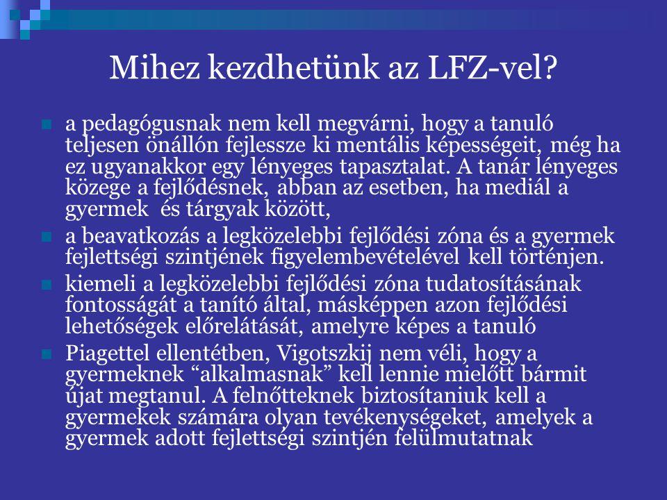 Mihez kezdhetünk az LFZ-vel.