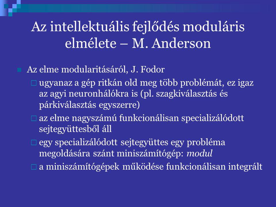 Az intellektuális fejlődés moduláris elmélete – M.