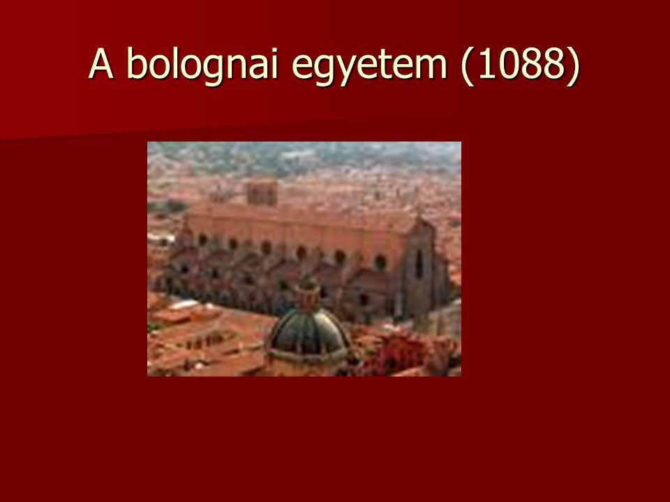A bolognai egyetem (1088)