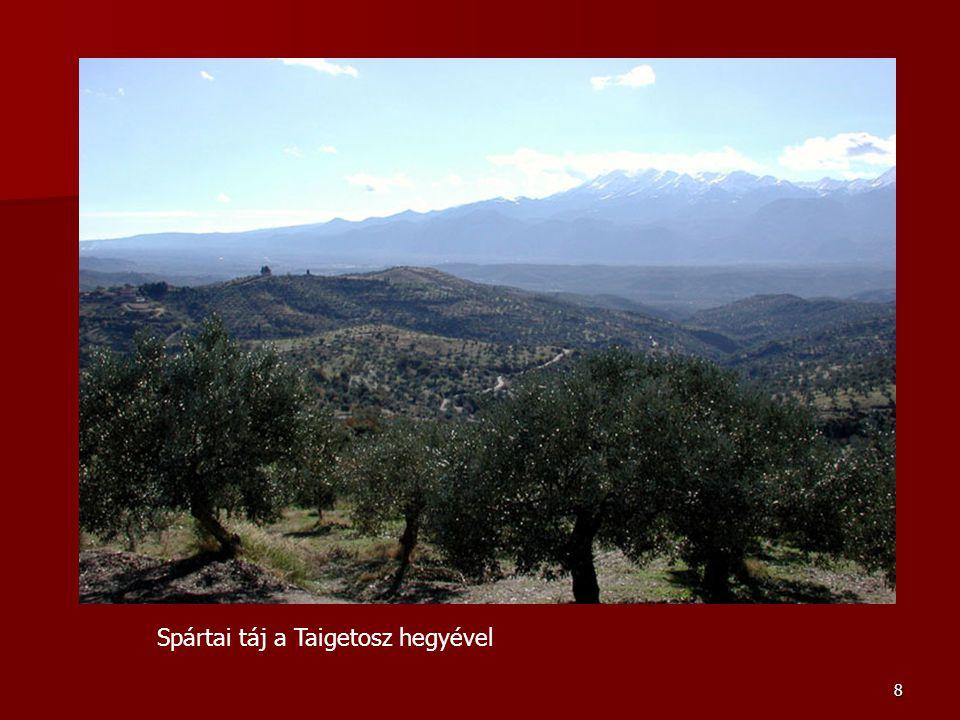 8 Spártai táj a Taigetosz hegyével