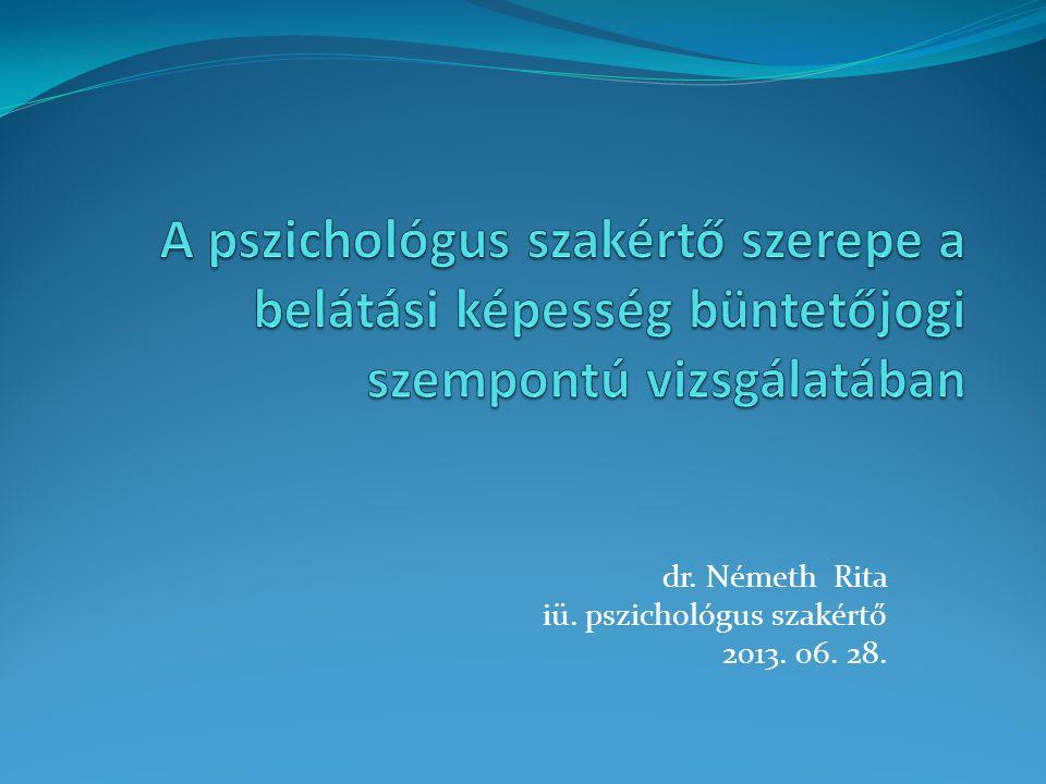 dr. Németh Rita iü. pszichológus szakértő 2013. 06. 28.