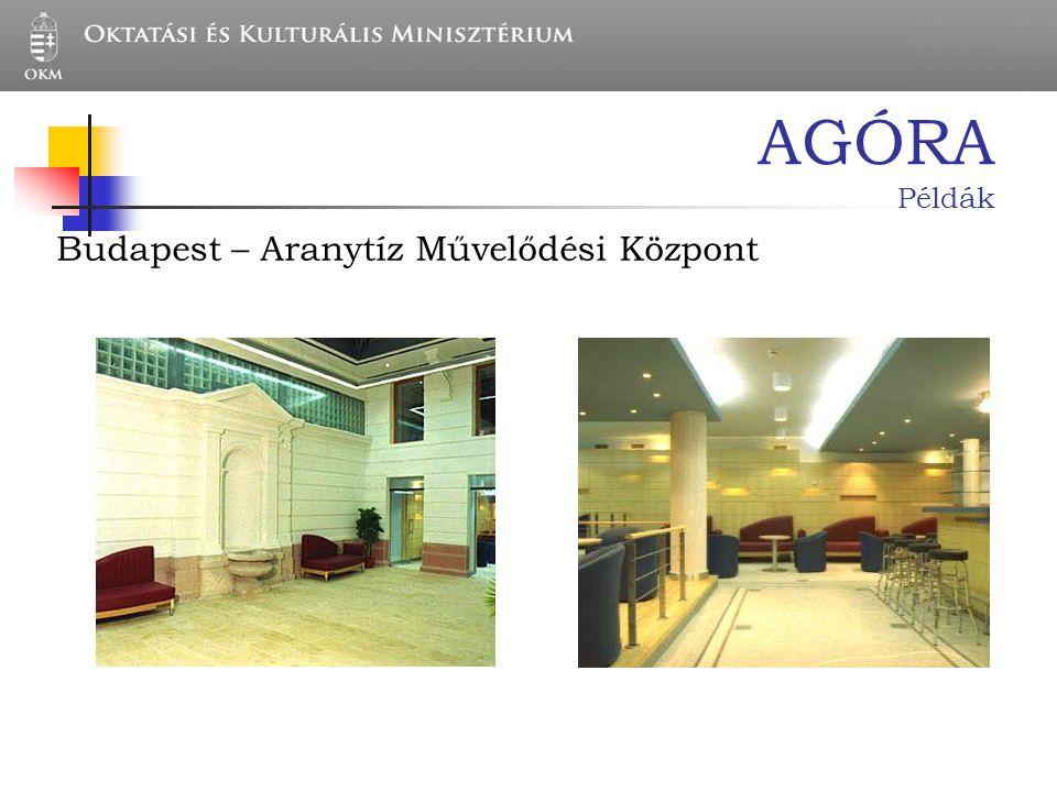 AGÓRA Példák Budapest – Aranytíz Művelődési Központ