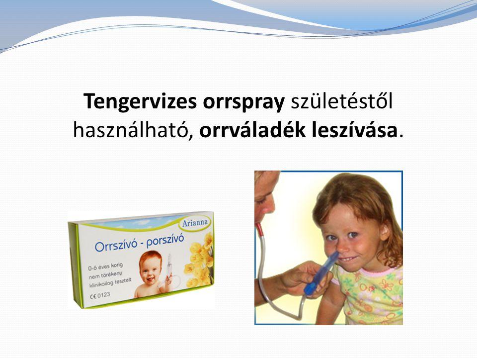 Tengervizes orrspray születéstől használható, orrváladék leszívása.
