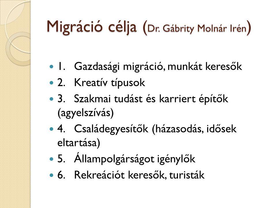 Migráció célja ( Dr.