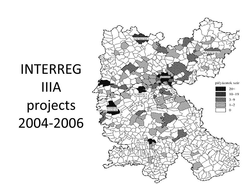 INTERREG IIIA projects 2004-2006