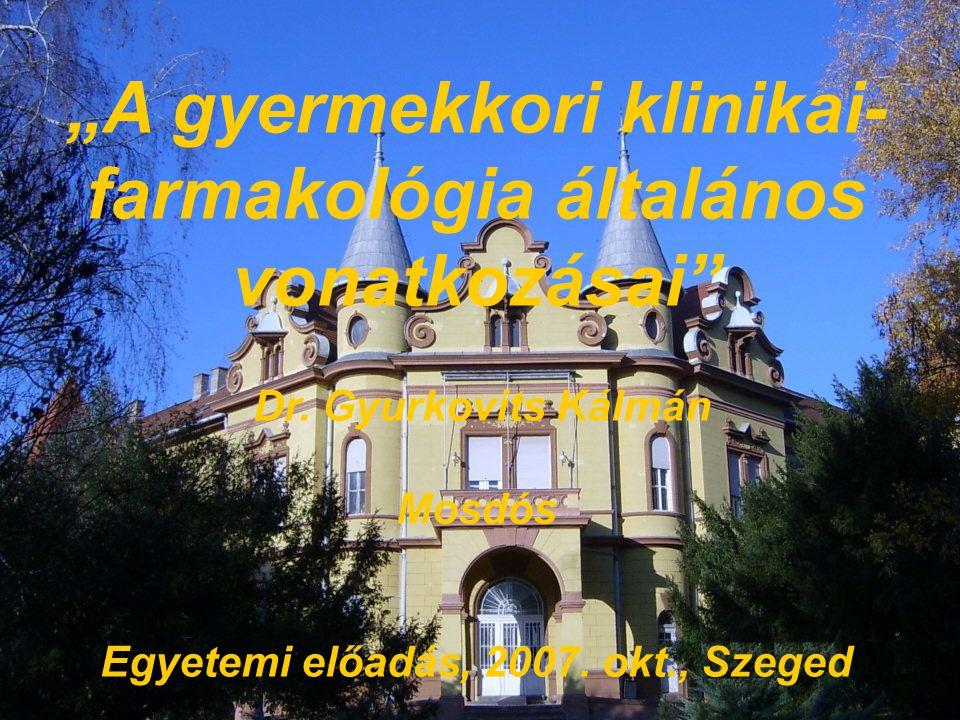 A KLINIKAI FARMAKOLÓGIA HAZAI TÖRTÉBETÉBŐL  1968.KF Hálózat Magyarországon (OGYI) Európában szervezetten elsők között  1993.
