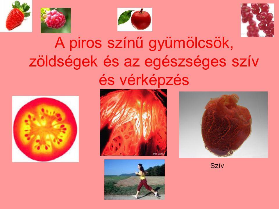A piros színű gyümölcsök, zöldségek és az egészséges szív és vérképzés Szív