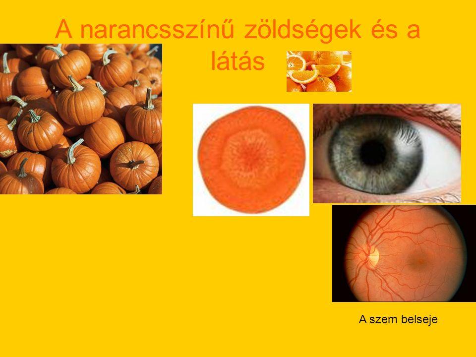 A narancsszínű zöldségek és a látás A szem belseje