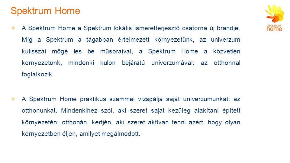 Spektrum Home A Spektrum Home a Spektrum lokális ismeretterjesztő csatorna új brandje.