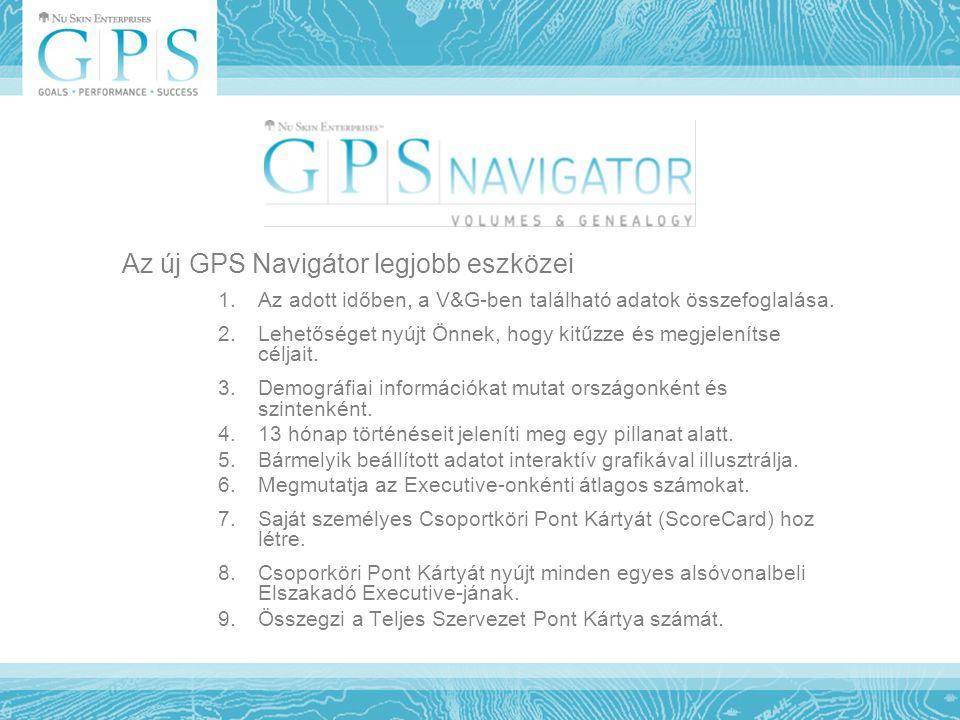 Az új GPS Navigátor legjobb eszközei 1.Az adott időben, a V&G-ben található adatok összefoglalása. 2.Lehetőséget nyújt Önnek, hogy kitűzze és megjelen