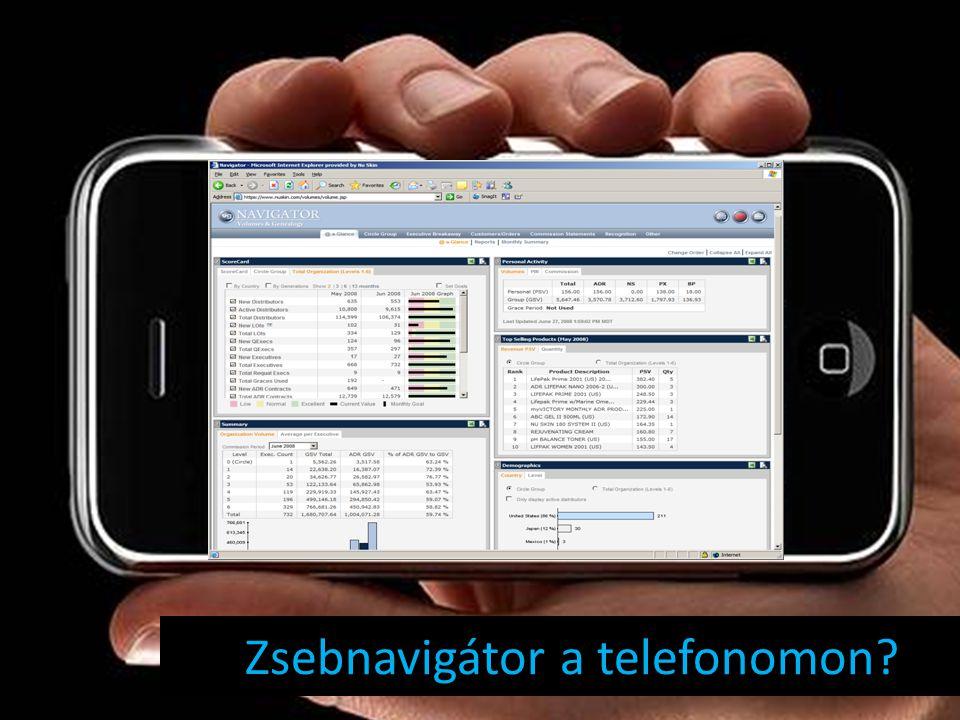 Zsebnavigátor a telefonomon