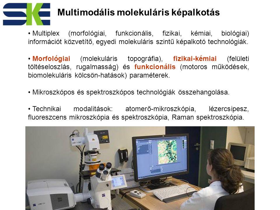Multimodális molekuláris képalkotás Multiplex (morfológiai, funkcionális, fizikai, kémiai, biológiai) információt közvetítő, egyedi molekuláris szintű képalkotó technológiák.