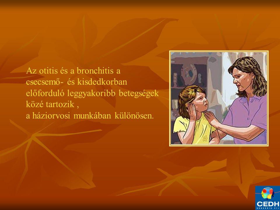 Az otitis és a bronchitis a csecsemő- és kisdedkorban előforduló leggyakoribb betegségek közé tartozik, a háziorvosi munkában különösen.