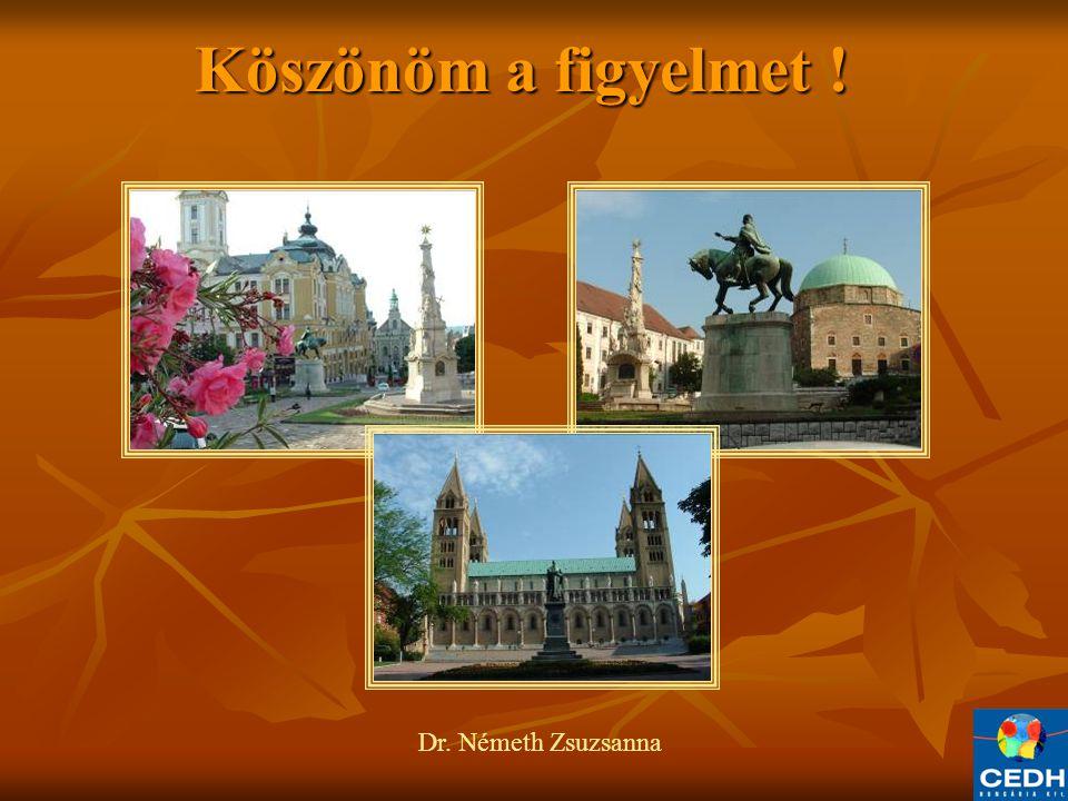 Köszönöm a figyelmet ! Köszönöm a figyelmet ! Dr. Németh Zsuzsanna