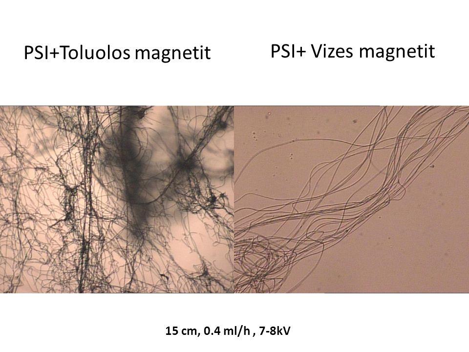 PSI+Toluolos magnetit PSI+ Vizes magnetit 15 cm, 0.4 ml/h, 7-8kV