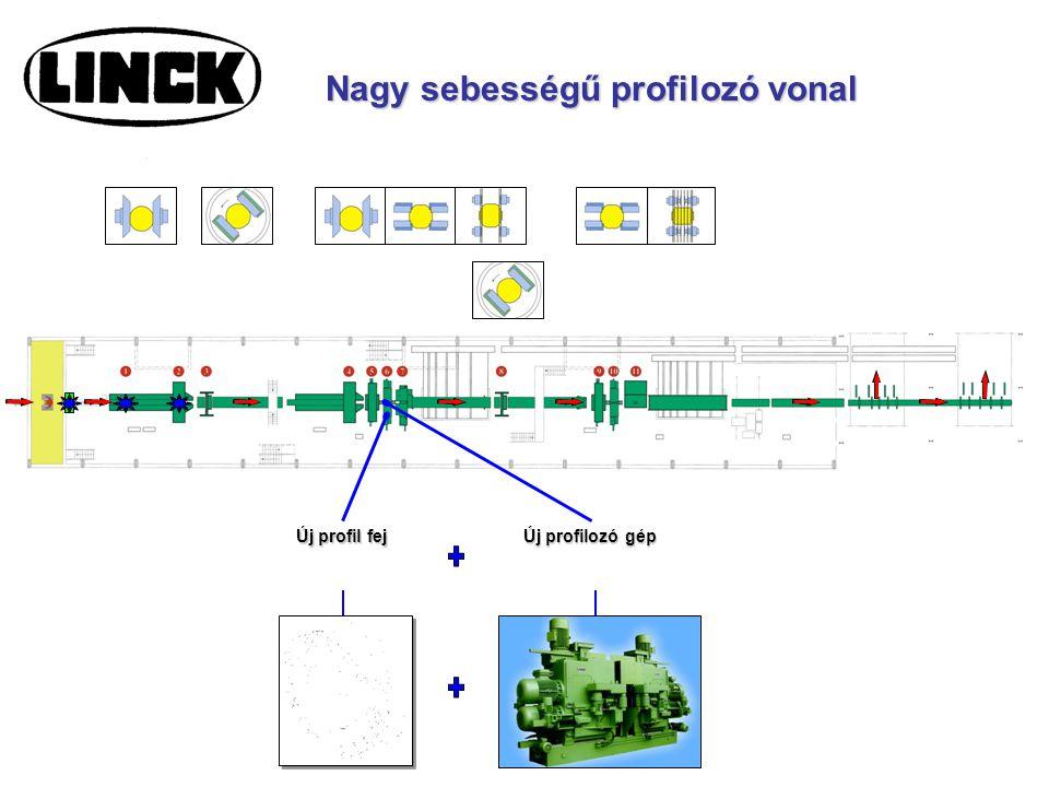 Új profil fej Új profilozó gép Nagy sebességű profilozó vonal