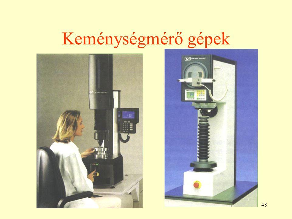 43 Keménységmérő gépek