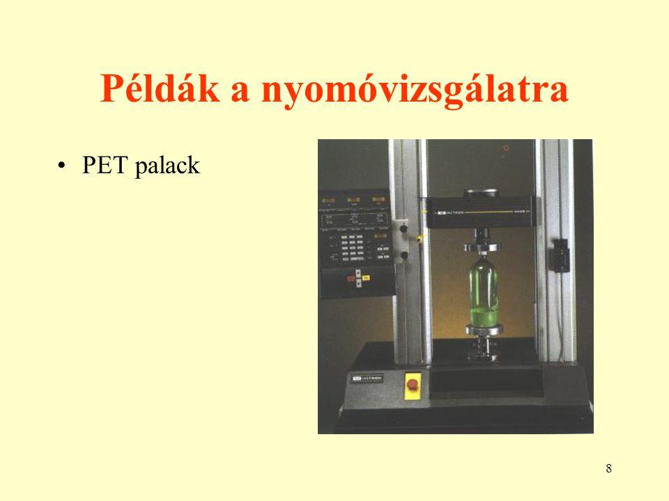 8 Példák a nyomóvizsgálatra PET palack