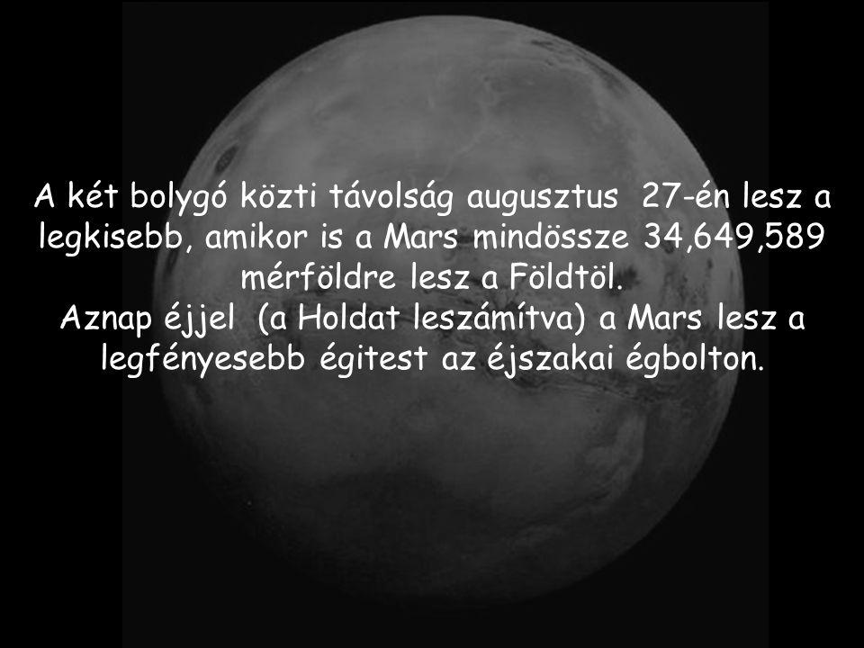 Ebben a hónapban, a Föld és a Mars olyan mértékben közelíti meg egymást, amire még nem volt példa az emberiség írott történelme során.