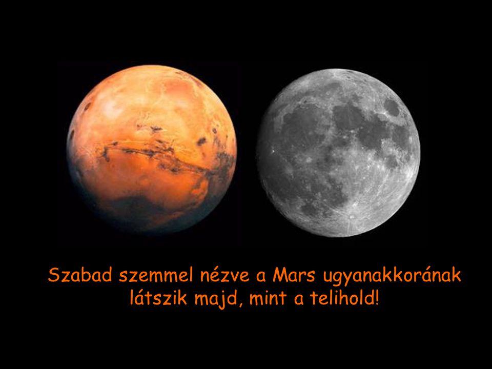 A két bolygó közti távolság augusztus 27-én lesz a legkisebb, amikor is a Mars mindössze 34,649,589 mérföldre lesz a Földtöl.