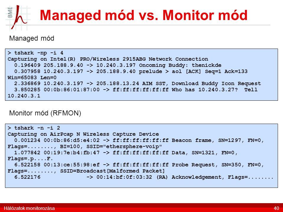 Managed mód vs.