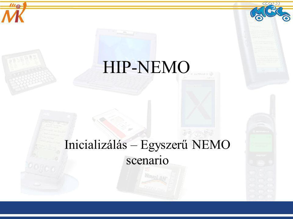 HIP-NEMO Inicializálás – Egyszerű NEMO scenario