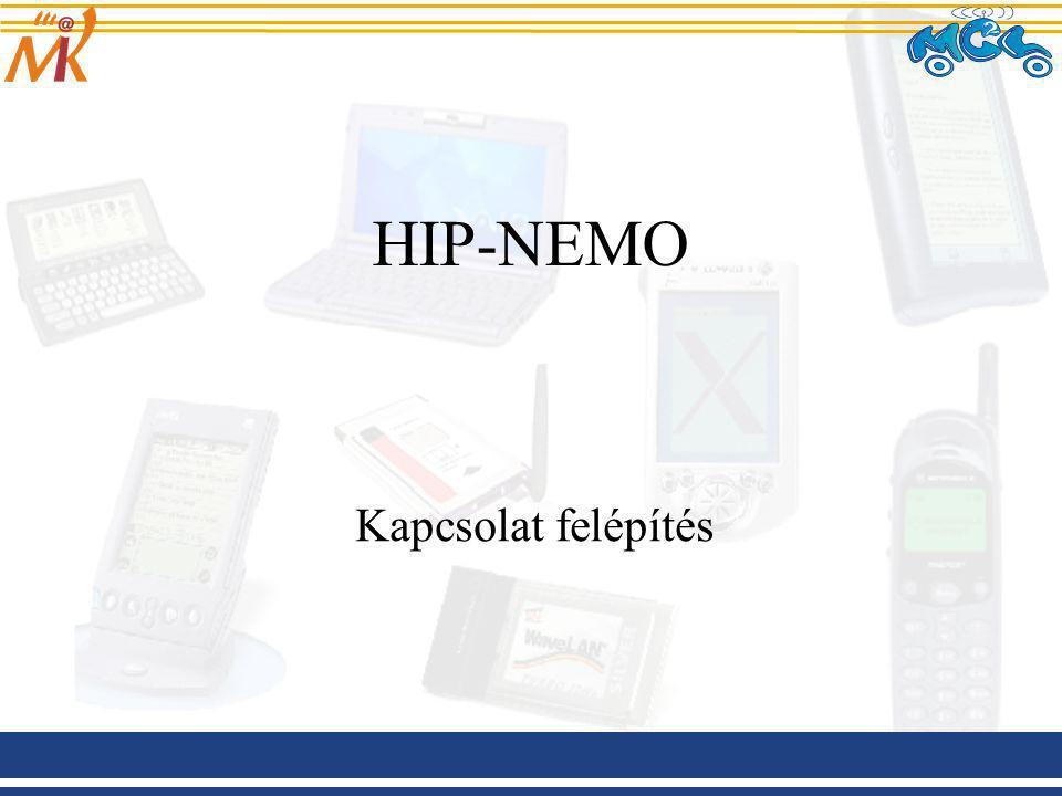 HIP-NEMO Kapcsolat felépítés