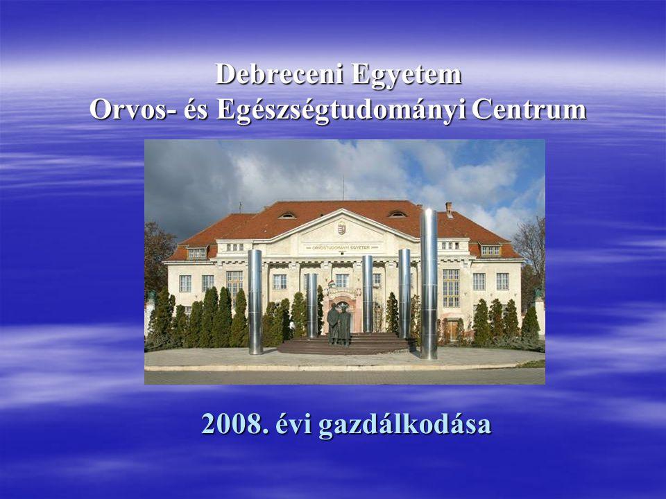 Debreceni Egyetem Orvos- és Egészségtudományi Centrum 2008. évi gazdálkodása