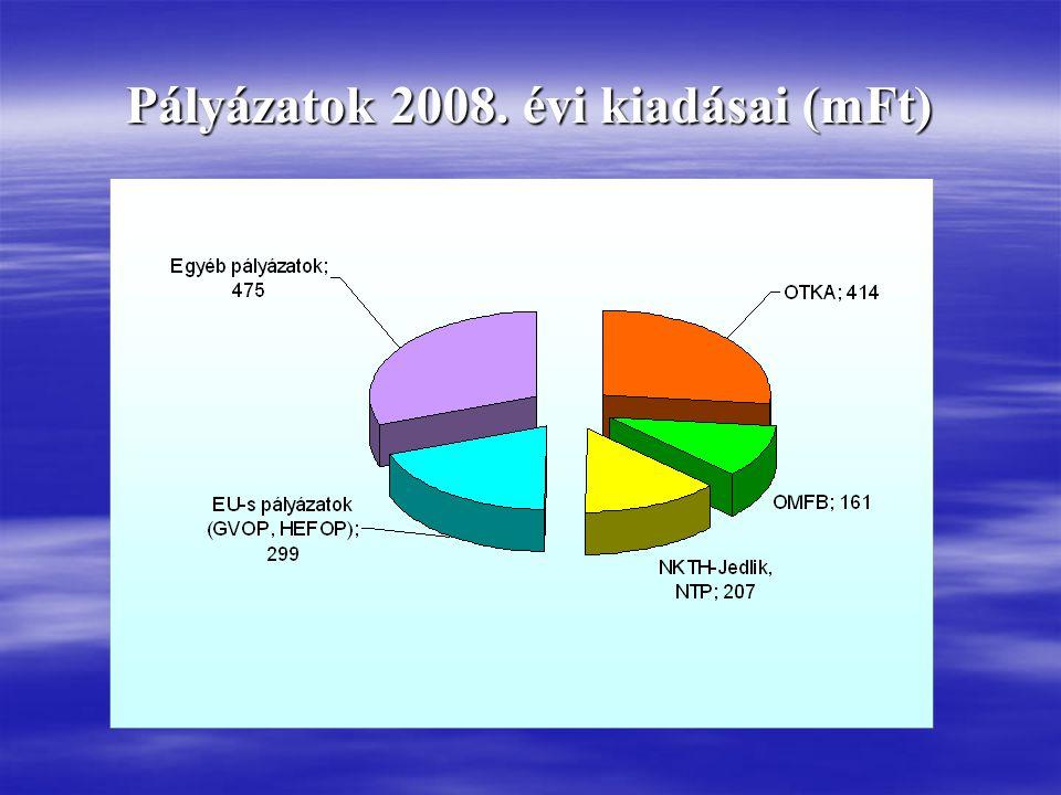 Pályázatok 2008. évi kiadásai (mFt)