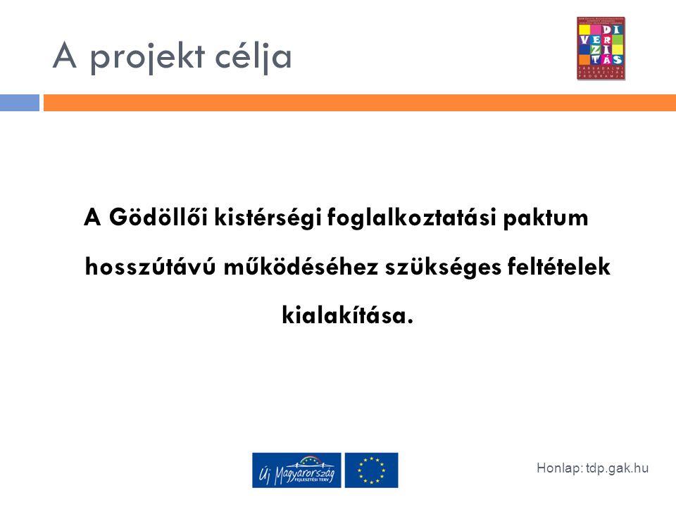 A projekt célja A Gödöllői kistérségi foglalkoztatási paktum hosszútávú működéséhez szükséges feltételek kialakítása.