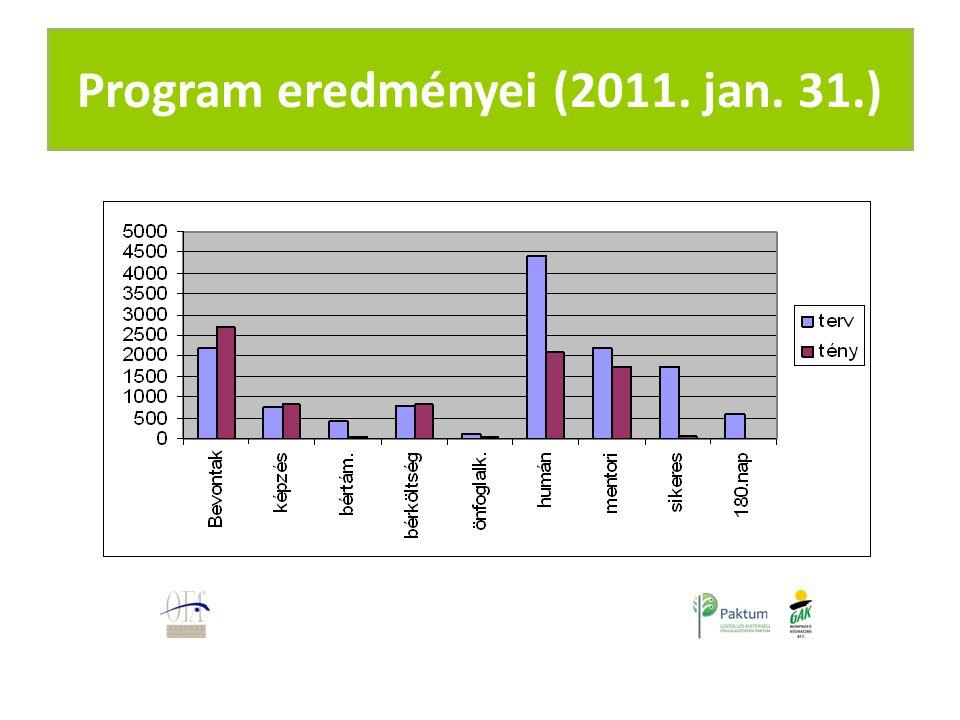 Program eredményei (2011. jan. 31.)