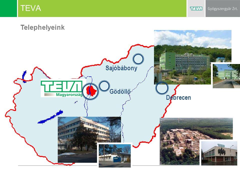 TEVA Telephelyeink Debrecen Gödöllő Sajóbábony