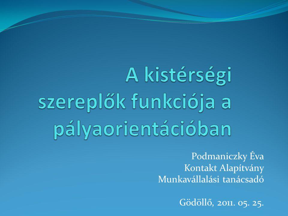Podmaniczky Éva Kontakt Alapítvány Munkavállalási tanácsadó Gödöllő, 2011. 05. 25.