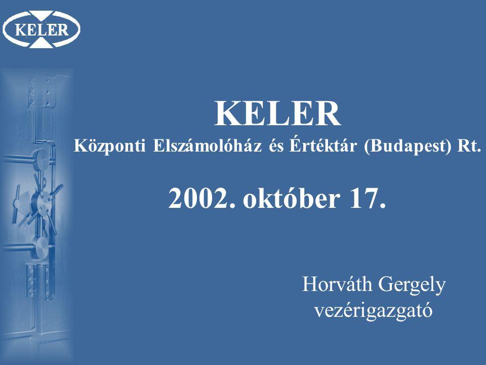 KELER Központi Elszámolóház és Értéktár (Budapest) Rt.