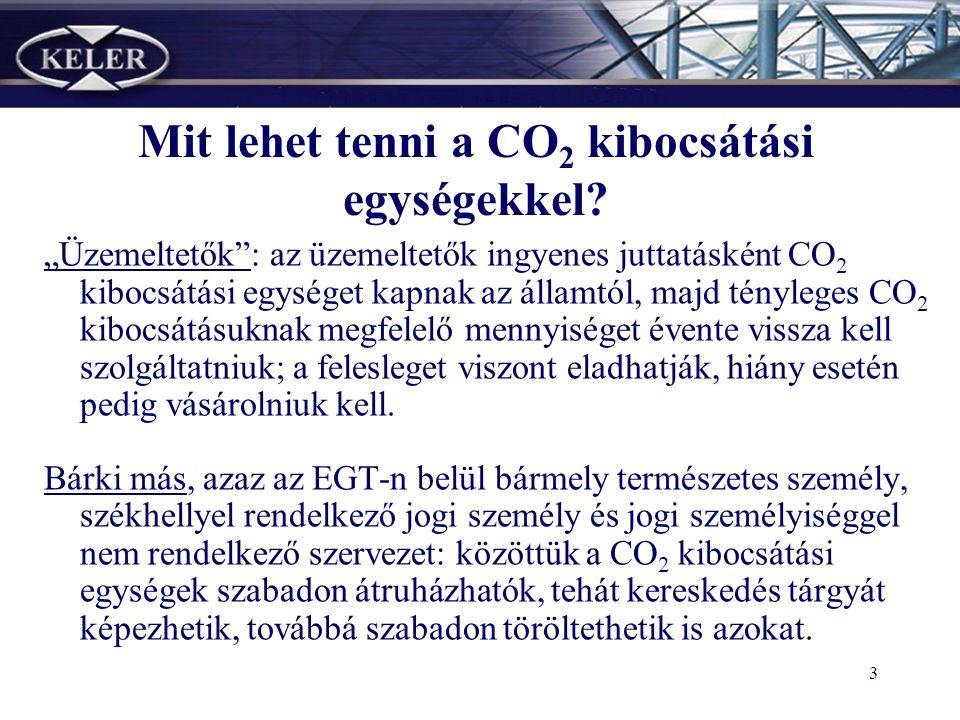 2 Az Európai Unióban 2005 és 2007 között működtetett CO 2 kibocsátás-kereskedelmi rendszer által meghatározott* forgalomképes vagyoni értékű jog, mely