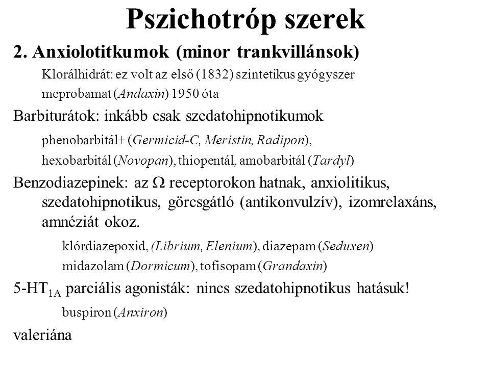 Pszichotróp szerek 2.