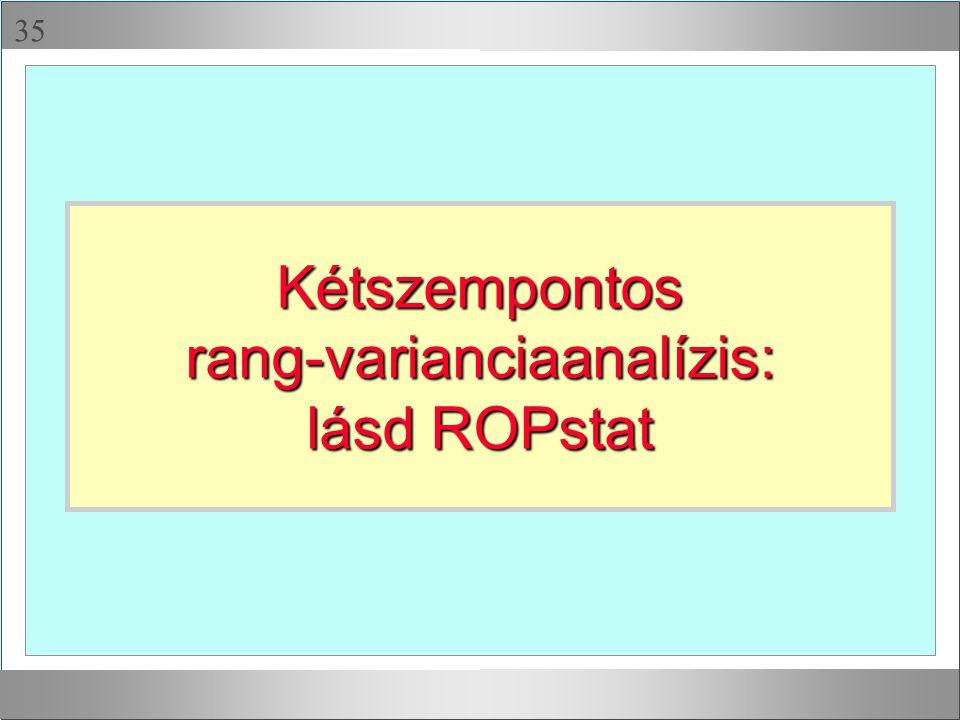  Kétszempontosrang-varianciaanalízis: lásd ROPstat