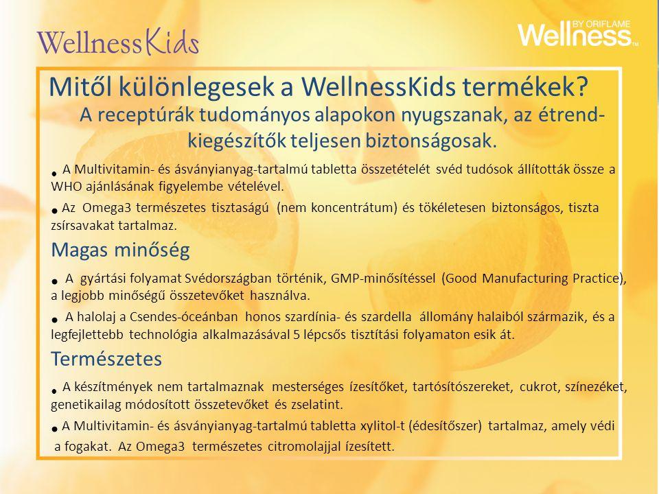 Mitől különlegesek a WellnessKids termékek? A receptúrák tudományos alapokon nyugszanak, az étrend- kiegészítők teljesen biztonságosak. A Multivitamin