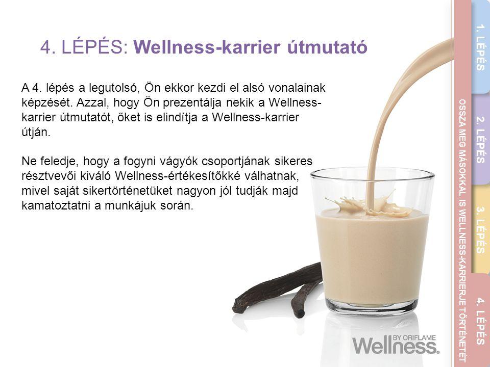 THE WELLNESS CAREER GUIDE 4. LÉPÉS: Wellness-karrier útmutató A 4. lépés a legutolsó, Ön ekkor kezdi el alsó vonalainak képzését. Azzal, hogy Ön preze