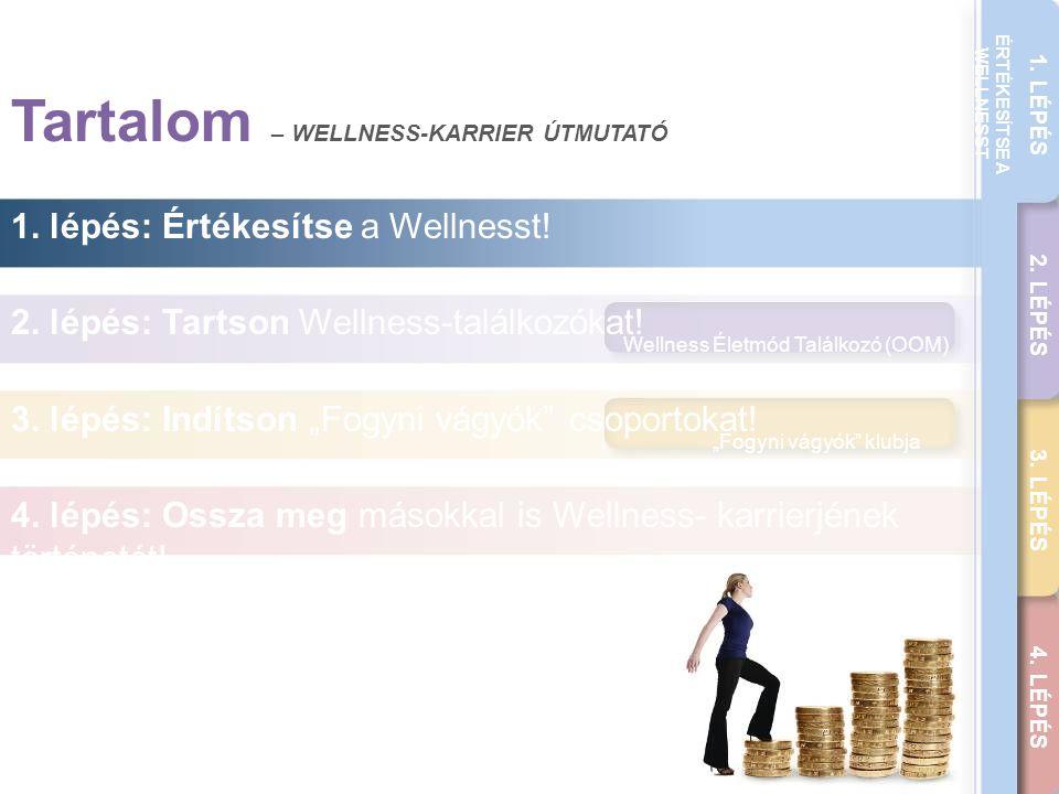 """THE WELLNESS CAREER GUIDE 1. LÉPÉS 2. LÉPÉS 3. LÉPÉS 4. LÉPÉS ÉRTÉKESÍTSE A WELLNESST Wellness Életmód Találkozó (OOM) """"Fogyni vágyók"""" klubja Tartalom"""