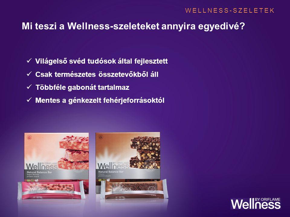 Mi teszi a Wellness-szeleteket annyira egyedivé? Világelső svéd tudósok által fejlesztett Csak természetes összetevőkből áll Többféle gabonát tartalma