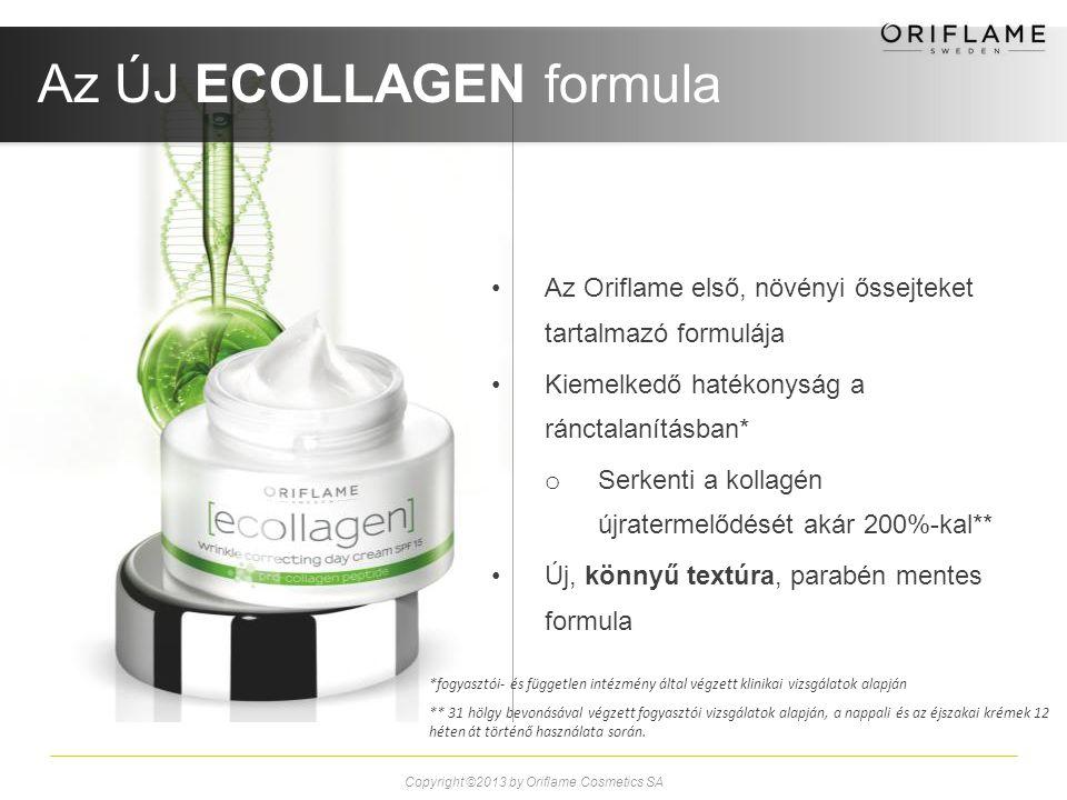 Az Oriflame első, növényi őssejteket tartalmazó formulája Kiemelkedő hatékonyság a ránctalanításban* o Serkenti a kollagén újratermelődését akár 200%-