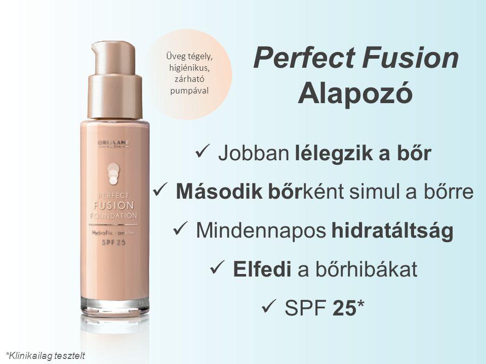 Üveg tégely, higiénikus, zárható pumpával Jobban lélegzik a bőr Második bőrként simul a bőrre Mindennapos hidratáltság Elfedi a bőrhibákat SPF 25* Per