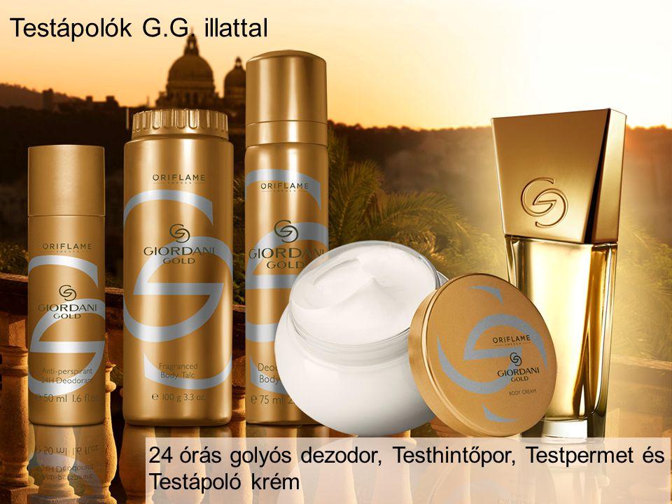 24 órás golyós dezodor, Testhintőpor, Testpermet és Testápoló krém Testápolók G.G. illattal