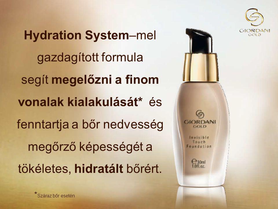 Hydration System–mel gazdagított formula segít megelőzni a finom vonalak kialakulását* és fenntartja a bőr nedvesség megőrző képességét a tökéletes, hidratált bőrért.