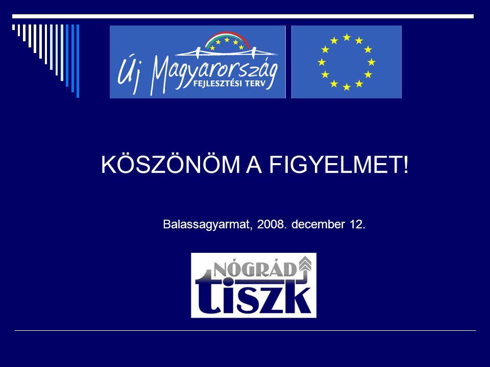 KÖSZÖNÖM A FIGYELMET! Balassagyarmat, 2008. december 12.