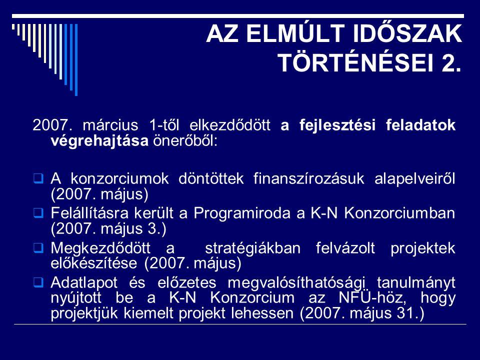 AZ ELMÚLT IDŐSZAK TÖRTÉNÉSEI 2. 2007.