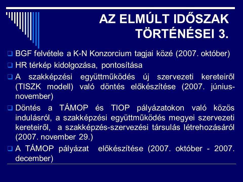 AZ ELMÚLT IDŐSZAK TÖRTÉNÉSEI 3.  BGF felvétele a K-N Konzorcium tagjai közé (2007.
