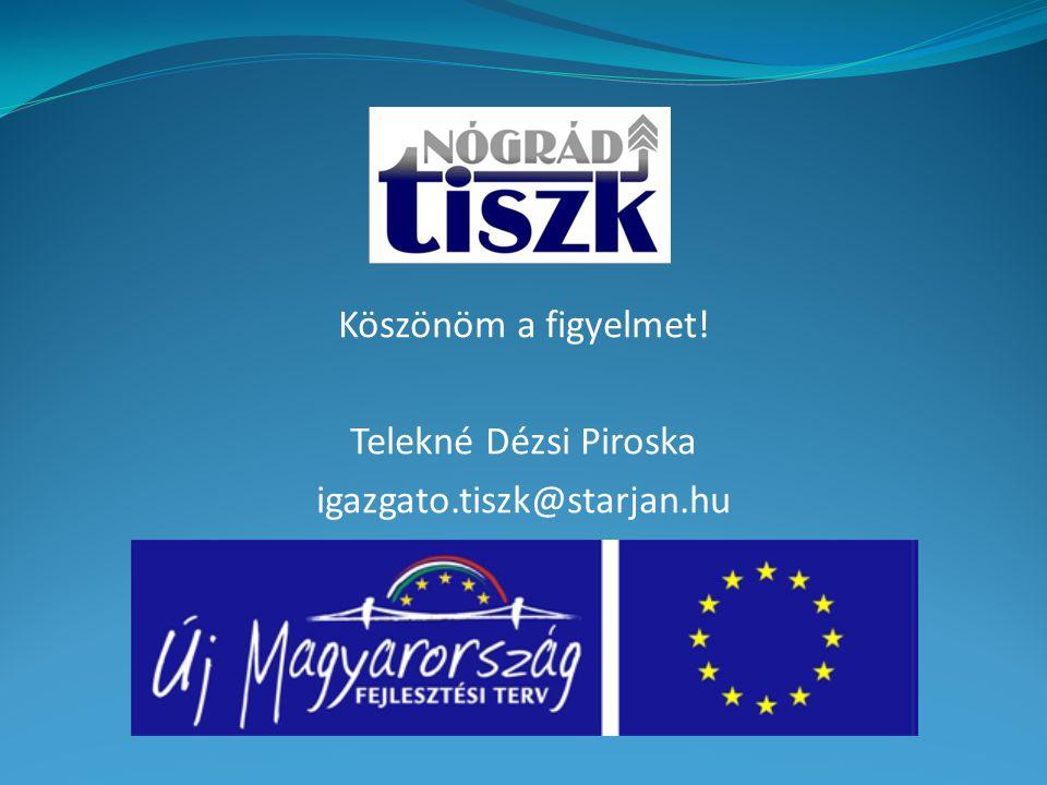 Köszönöm a figyelmet! Telekné Dézsi Piroska igazgato.tiszk@starjan.hu